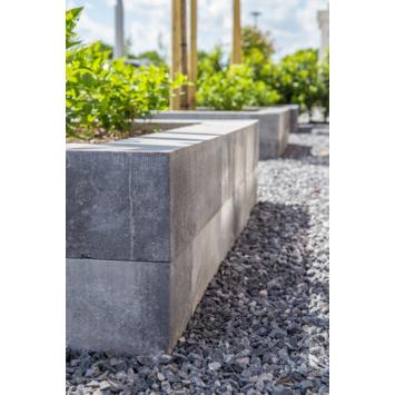 Stapelblok Beton Strak Grijs/Zwart 30x12x10 cm