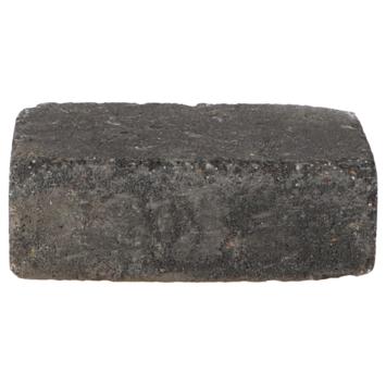Trommelsteen Grijs/Zwart 21x14x7cm