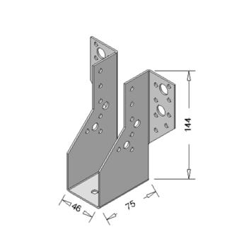 Raveeldrager Zwart Zwaar 46x144 mm