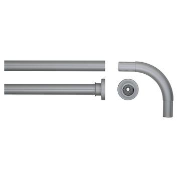 Sealskin Seallux douchegordijnstang mat aluminium 90x90 cm Ø28mm