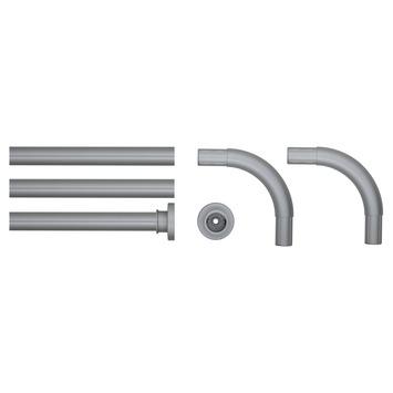 Sealskin Seallux douchegordijnstang mat aluminium 90x90x90 cm Ø28mm