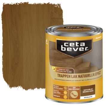Cetabever traplak natuurlijk effect brown wash 750 ml