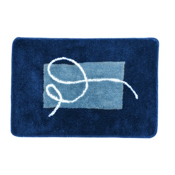Sealskin Carcassonne badmat blauw 60 x 90 cm