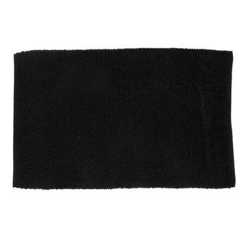 Le Noir & Blanc Chenille badmat zwart 60 x 90 cm