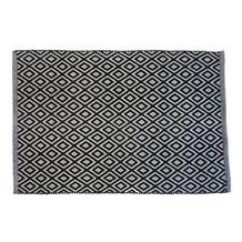 Le Noir & Blanc Trellis badmat zwart 60 x 90 cm