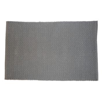 Le Noir & Blanc Braid badmat grijs 60 x 90 cm
