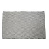 Le Noir & Blanc Chevron badmat grijs 60 x 90 cm