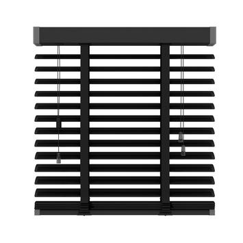 KARWEI horizontale aluminium jaloezie 50 mm mat zwart (320) 180 x 180 cm