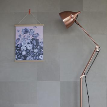 Enzo Pellini Leren wandbekleding Beige 50x25 cm (ca. 1 m²)