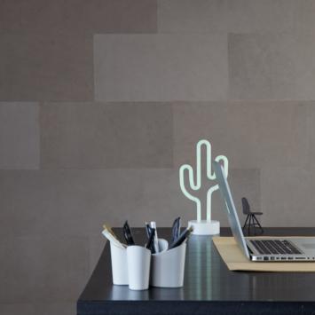 Enzo Pellini Leren wandbekleding Taupe 50x25 cm (ca. 1 m²)