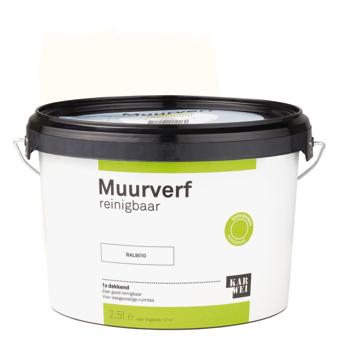 KARWEI muurverf reinigbaar RAL 9010 gebroken wit 2,5 liter