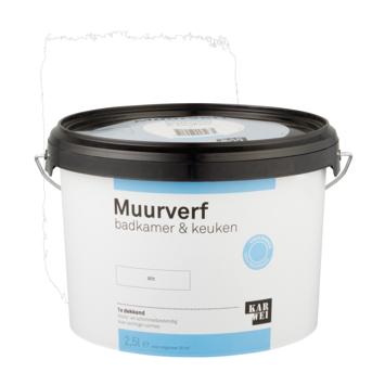 KARWEI muurverf badkamer & keuken wit 2,5 liter