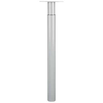 Duraline Tafelpoot Tess zilvergrijs verstelbaar 70 - 110 cm