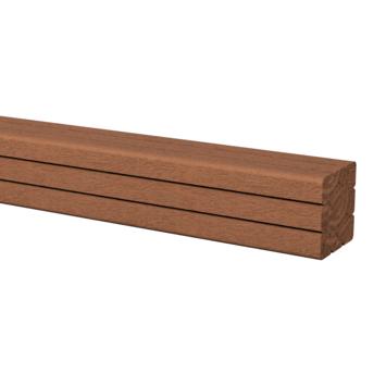 Tuinpaal hardhout ca. 6,5x6,5 cm, lengte ca. 270 cm