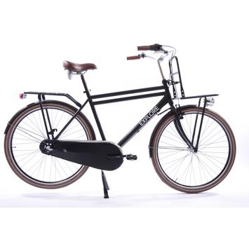 Explore transportfiets Shimano 3 heren mat zwart