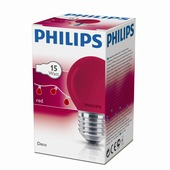 Philips kogellamp rood E27 15W