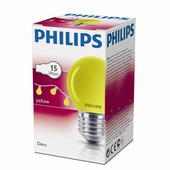 Philips kogellamp geel E27 15W