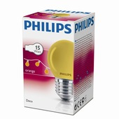 Philips kogellamp oranje E27 15W
