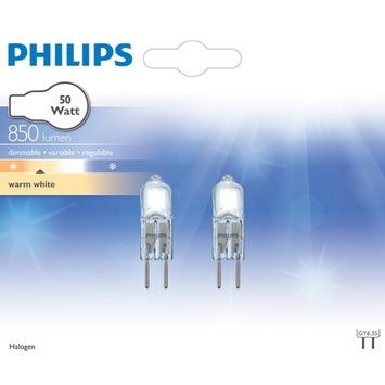 Philips halogeencapsulelamp GY6.35 50W 2 stuks