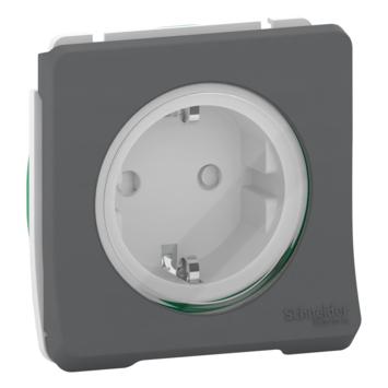 Schneider Electric Merten Mureva Styl Buiten Wandcontactdoos IP55 Inzetstuk+klapdeksel