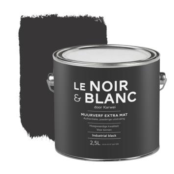 Le Noir & Blanc muurverf extra mat industrial black 2,5 liter