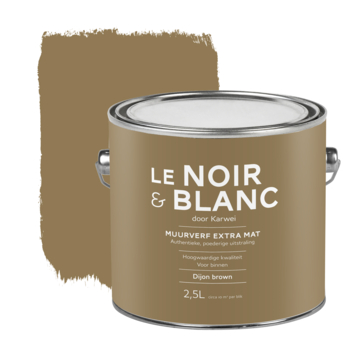 Le Noir & Blanc muurverf extra mat dijon brown 2,5 liter