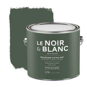 Le Noir & Blanc muurverf extra mat forest pine green 2,5 liter