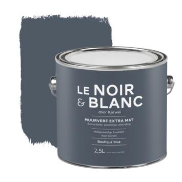 Le Noir & Blanc muurverf extra mat boutique blue 2,5 liter