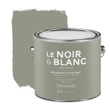 Le Noir & Blanc muurverf extra mat tuscan olive green 2,5 liter