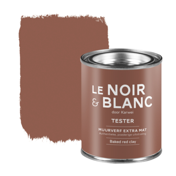Le Noir & Blanc muurverf tester extra mat baked red clay 100 ml