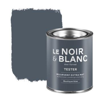 Le Noir & Blanc muurverf tester extra mat boutique blue 100 ml