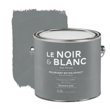 Le Noir & Blanc muurverf betoneffect bluestone grey 2,5 liter