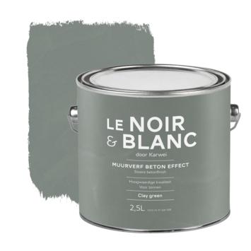 Le Noir & Blanc muurverf betoneffect clay green 2,5 liter
