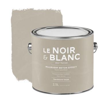 Le Noir & Blanc muurverf betoneffect sandstone taupe 2,5 liter