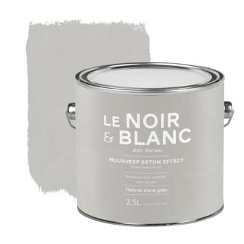Le Noir & Blanc muurverf betoneffect natural stone grey 2,5 liter