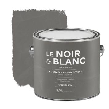 Le Noir & Blanc muurverf betoneffect graphite grey 2,5 liter