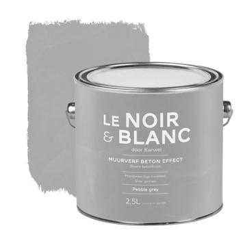 Le Noir & Blanc muurverf betoneffect pebble grey 2,5 liter