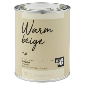 Karwei binnenlak mat 750 ml warm beige