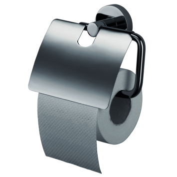 Haceka Kosmos toiletrolhouder met klep rvs