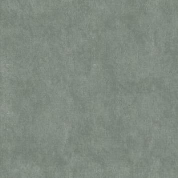 Le Noir & Blanc vliesbehang textiel uni groen (dessin 113286)