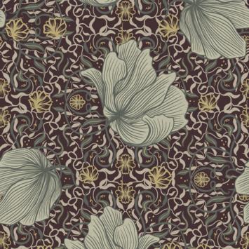 Vliesbehang vayen bourgondy (dessin 113296)