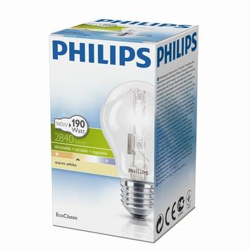 Philips EcoClassic halogeenlamp peer helder E27 140W