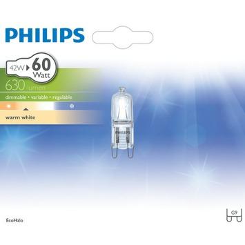 Philips EcoHalo halogeencapsulelamp G9 42W helder