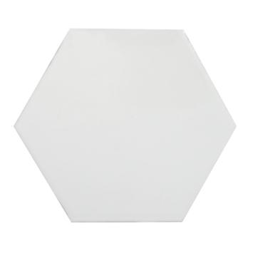 Wandtegel Rustic Hexagon glans wit 15x15 cm 0,85m²