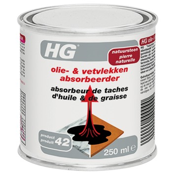 HG olie- & vetvlekken absorbeerder 250 ml