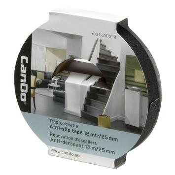 CanDo traprenovatie tape anti slip zwart 22 mm (rol 18 m)