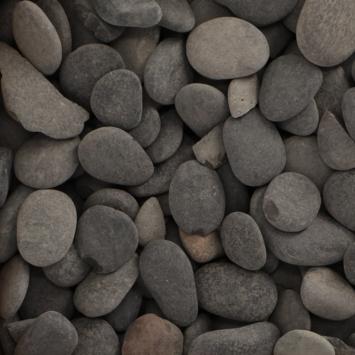 Grind Keien Pebbles Zwart 30-80 mm - Per Zak á 20 kg