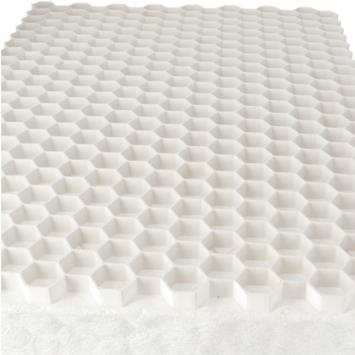 Grindrooster Wit Kunststof met Worteldoek 119x79 cm - 0,94 m2