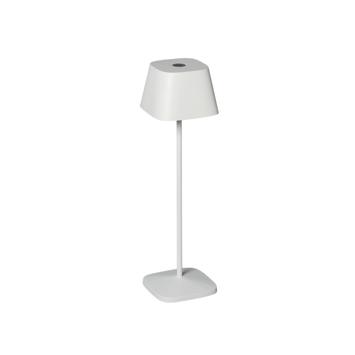 Konstsmide tafellamp Capri wit incl. dimmer en usb oplader