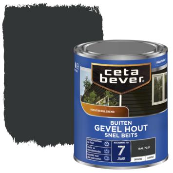 Cetabever snel beits gevel & kozijn dekkend RAL 7021 zwartgrijs zijdemat 750 ml